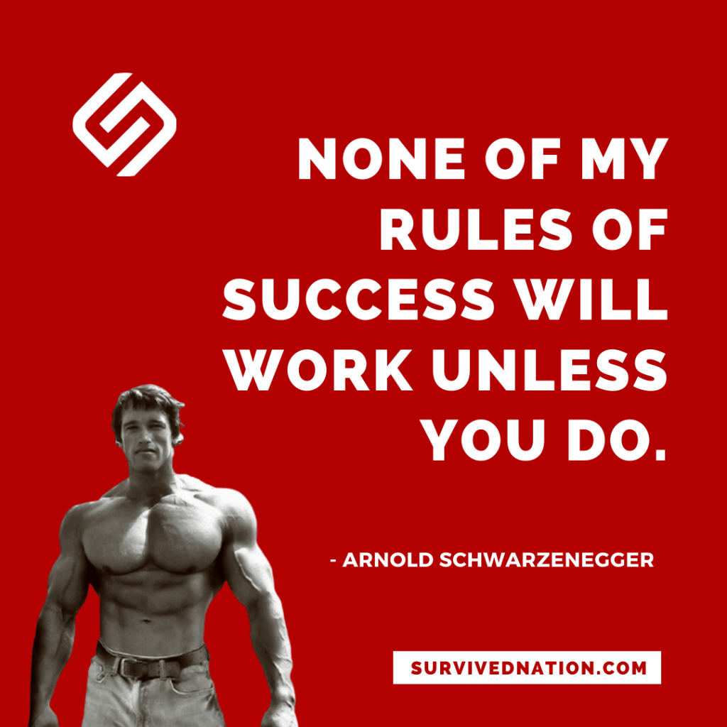 Rules for success Arnold Schwarzenegger