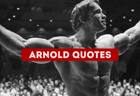 Arnold Schwarzenegger Quotes On Motivation And Success.